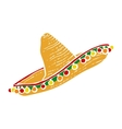 Traditional Mexican wide brimmed sombrero hat
