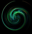 twisted green shiny and colorful background vector image vector image