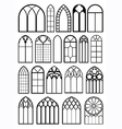 Window frame silhouettes vector image vector image