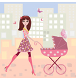 Woman pram9 vector | Price: 1 Credit (USD $1)