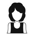 Women avatar icon simple style vector image