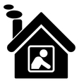 Workshop Building Flat Icon vector image