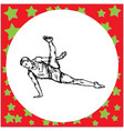 flexible male gymnast performing vector image
