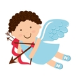 angel cupid little icon vector image