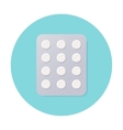 Pills Blister Pack with White Round Pills vector image