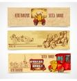 Vintage Transport Banners vector image