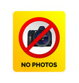 no photos sign vector image