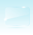 abstract transparent glass banner vector image vector image