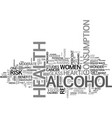 alcohol health benefit or health risk text word vector image vector image