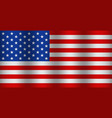 american flag with wave usa waving background vector image