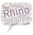 Are you a Rhino or a Cow text background wordcloud vector image vector image