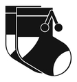 Baby socks icon simple style vector image vector image