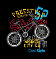 bike freestyle t shirt vector image