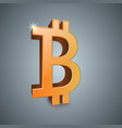 bitcoin 3d realistic icon vector image vector image