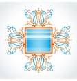 Blue and orange brooch vector image vector image