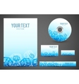 Blue boxes template vector image