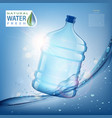 bottle with clean fresh water vector image