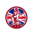 british blacksmith union jack flag icon vector image vector image
