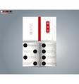 Brochure template for restaurant vector image vector image