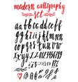 Calligraphy alphabet 1 vector image