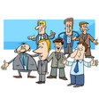 cartoon businessmen characters group vector image vector image