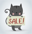 Cat pet animal holding strike clean plate board vector image vector image