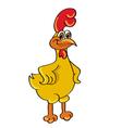 chicken standing vector image vector image