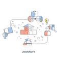 college university academy vector image vector image