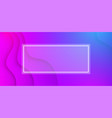 colorful wavy background with white frame vector image