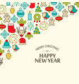 colorful winter holidays background vector image