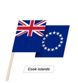 Cook Islands Ribbon Waving Flag Isolated on White vector image vector image