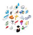 creative idea icons set isometric style vector image vector image