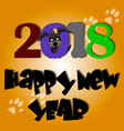 cute dog year greeting card material 2018 vector image vector image