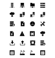 Database and Server Icons 1 vector image vector image
