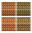 delicious of chocolate bar on white background vector image
