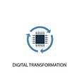 digital transformation concept 2 colored icon vector image vector image