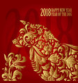 dog symbol of 2018 on the chinese calendar happy vector image