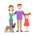 family portrait Mom Dad daughter vector image