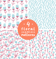 Floral patterns set 3 vector image vector image