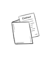 folder with contract paper vector image vector image