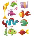 funky fish vector image vector image