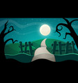 halloween star road tree vector image