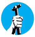 Hammer hand vector image