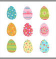 hand drawn easter eggs set vector image vector image