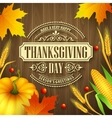Hand drawn thanksgiving greeting card with leaves vector image vector image