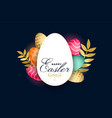 happy easter celebration card with colorful eggs vector image vector image