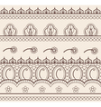 Indian henna ornament seamless