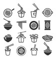 instant noodles icon set vector image vector image