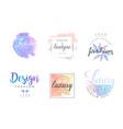 luxury fashion boutique logo design templates vector image vector image