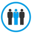Management Flat Icon vector image vector image